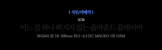 어느 것 하나 빠지지 않는 올라운드 플레이어 DCM SIGMA ⓒ 18-300mm F3.5-6.3 DC MACRO OS HSM