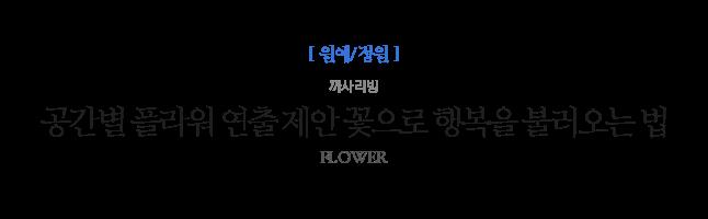 공간별 플라워 연출 제안 꽃으로 행복을 불러오는 법 까사리빙 FLOWER